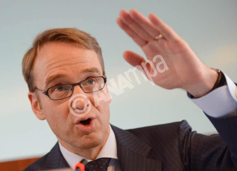 Jens Weidmann, the president of the German Central Bank, speaks at the annual press conference at the headquarters of the German Central Bank in Frankfurt Main, Germany, 12 March 2013. EPA/ARNE DEDERT