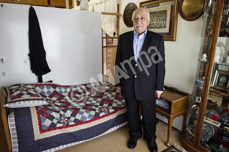 epa04184841 (FILE) A file picture dated 15 March 2014 and made avaliable on 25 March 2014 by Zaman Turkish Daily newspaper shows Fethullah Gulen, an Islamic opinion leader and founder of the Gulen movement, poses during an interview at his residence in Pennsylvania, USA. According to reports on 29 April 2014, Turkish PM Erdogan said Turkey would launch extradition proceedings against Gulen.  EPA/SELAHATTIN SEVI/ZAMAN DAILY NEWS / HANDOUT   EDITORIAL USE ONLY