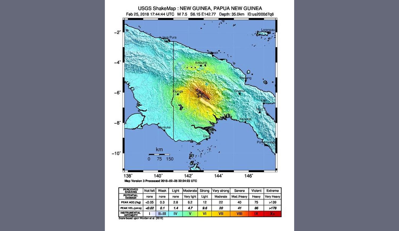 e11d60cf10d Σεισμός 7,5 Ρίχτερ στην Παπούα-Νέα Γουινέα. Περισσότεροι από 30 νεκροί -  ΑΠΕ-ΜΠΕ