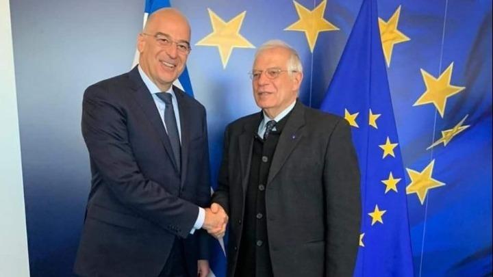 FM Dendias meets with EU High Representative for Foreign Affairs Borrell - ΑΠΕ-ΜΠΕ