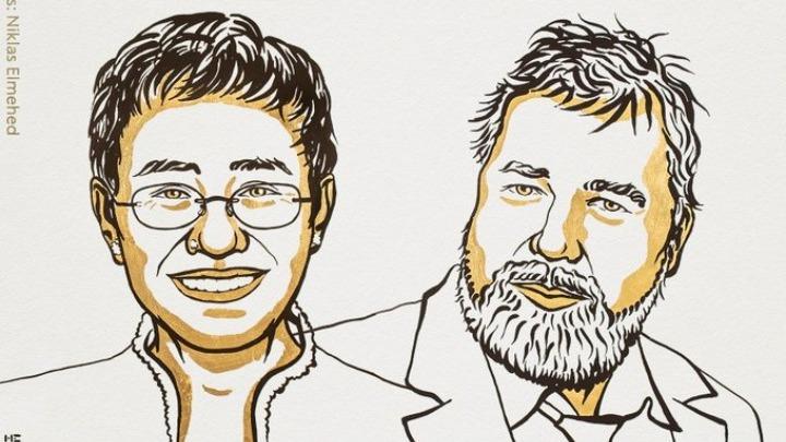 Οι δημοσιογράφοι Μαρία Ρέσα και Ντμίτρι Μουράτοφ τιμήθηκαν με το Νόμπελ Ειρήνης